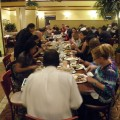 Dinner with conference attendees.