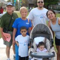 Baudhuin Preschool student Elijiah Moore had the full support of his entire family (including baby sister Elanah) as they participated in the 2010 Walk Now for Autism Speaks event. (From left to right): Grandparents Ralph Toledo, Eleanor Toledo, Elijiah Moore, Elanah Moore and parents Raquel Moore and Donald Moore.