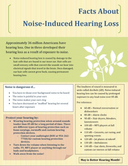 May is Better Hearing Month! Do you have Noise-Induced Hearing ...