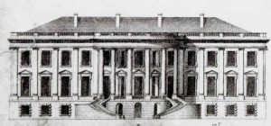 James Hoban's drawing of the south front of the President's House, 1818. Provided by the Library of Congress, courtesy the White House Historical Association.