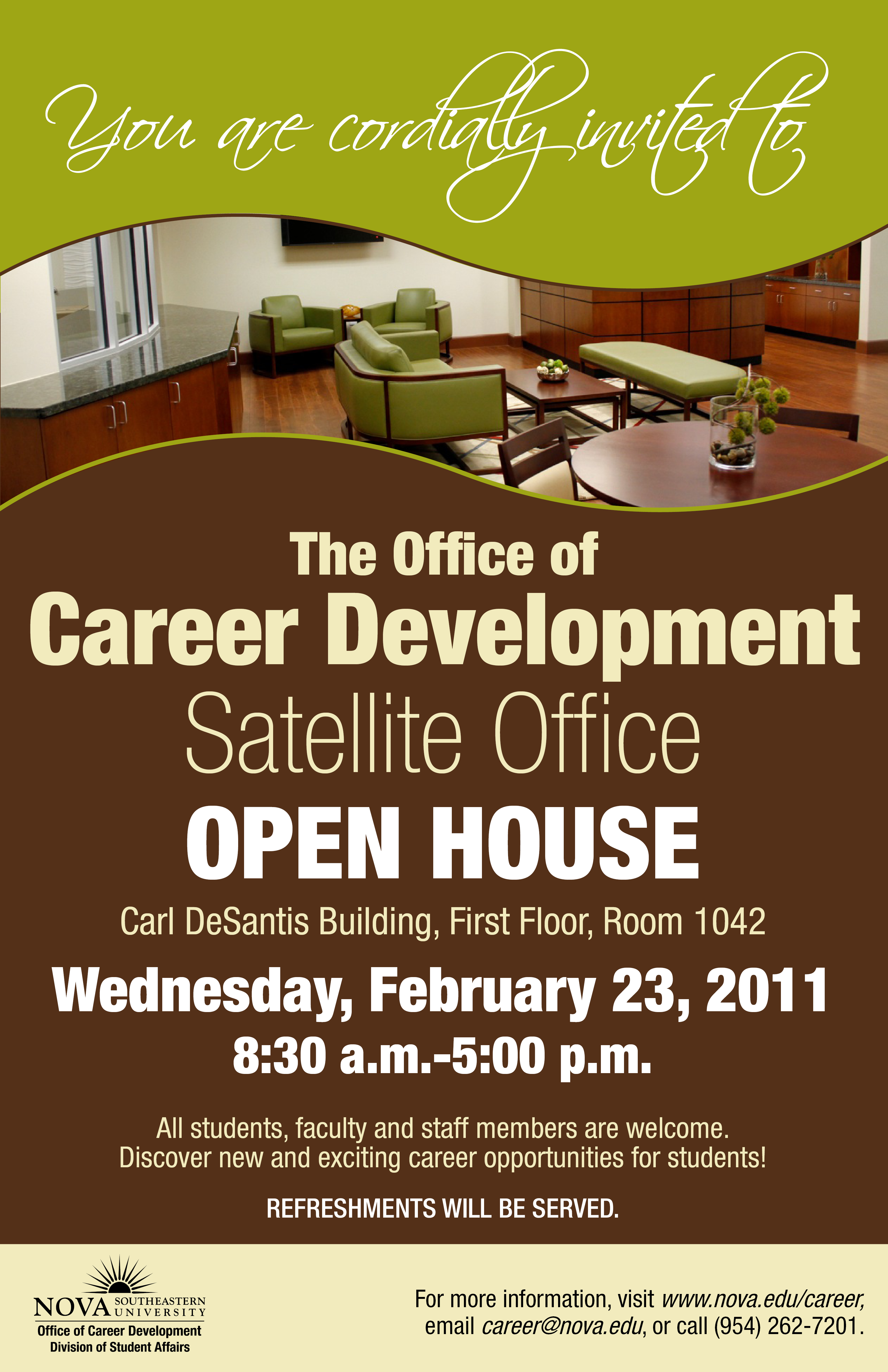 open house for the office of career development u2019s new
