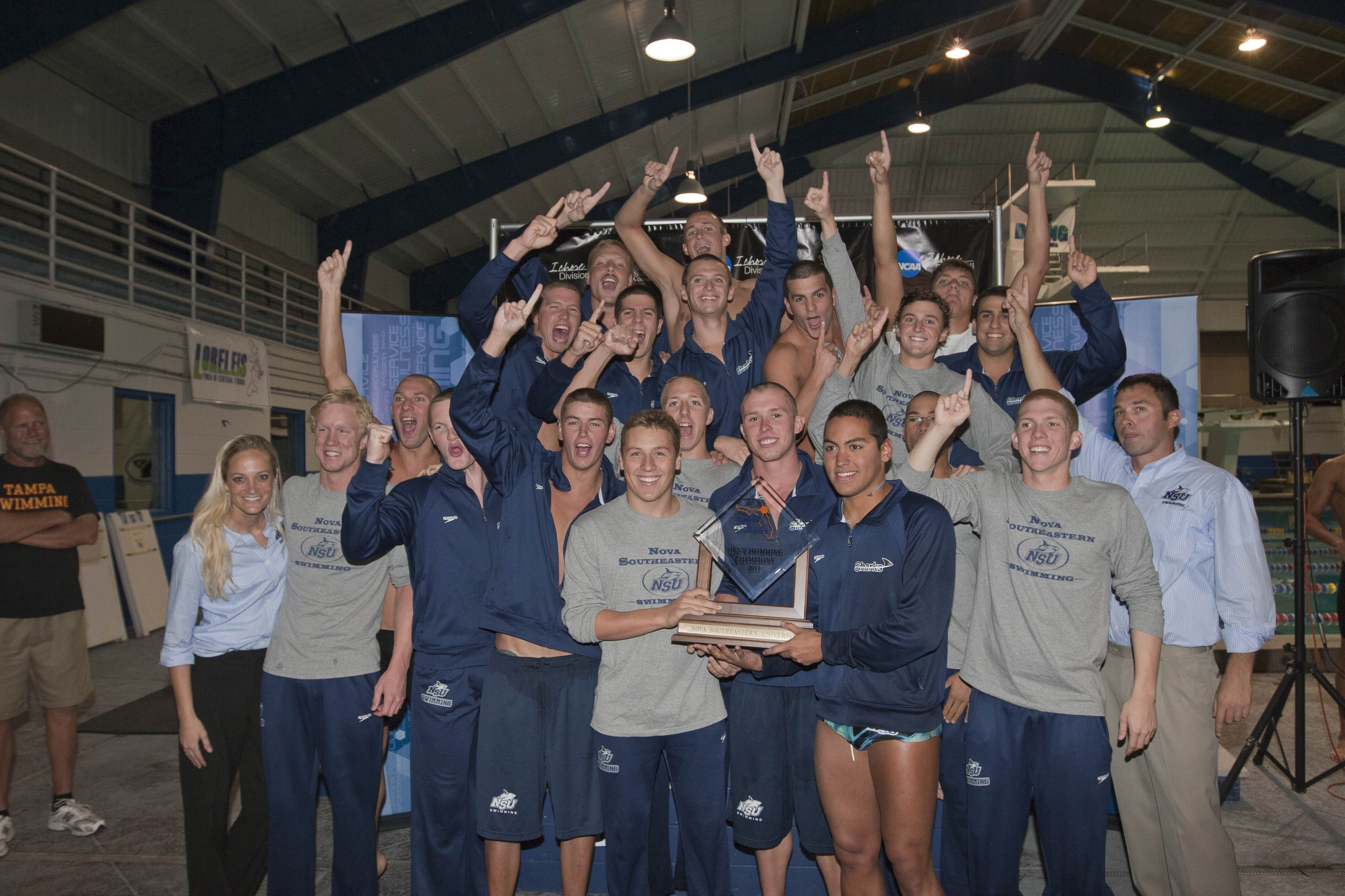 Nsu men s swimming captures first ssc title nsu newsroom - Southeastern college pasay swimming pool ...