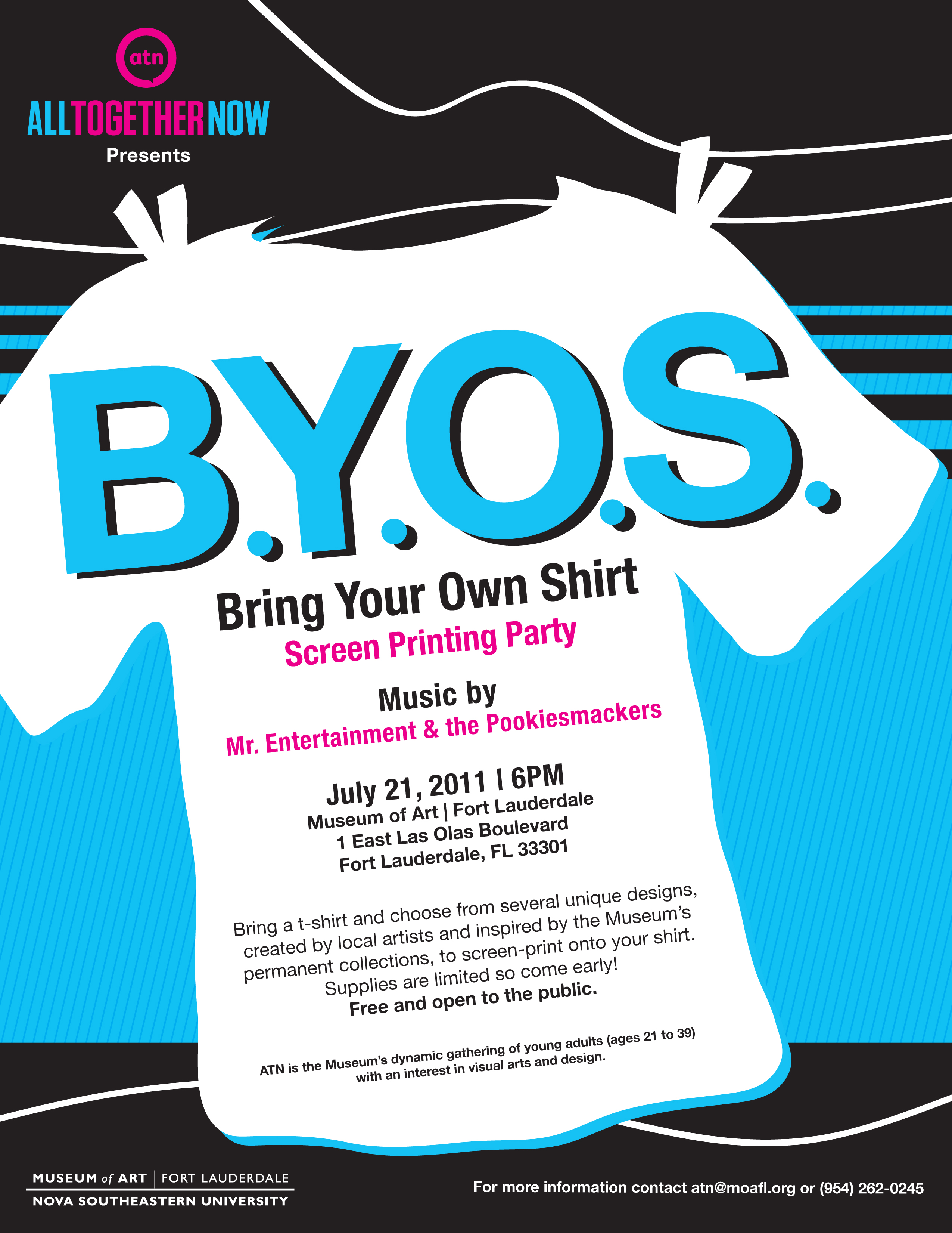 museum of art to host b y o s  screen printing party  july