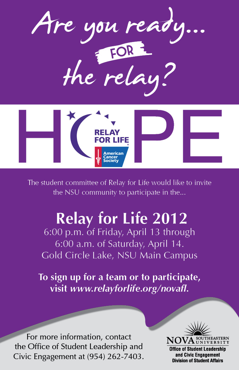 Relay for life poster ideas the image for Relay for life flyer template