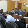 Kevin Straw, Jordan Keck and Ben Funkhouser meeting with the BTL leadership. (Bottom right) Peter Munguti, the General Secretary of BTL.