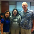 L to R:  Patricia Celleri, MBA student; Alana Gross, USchool Junior, and Dr. Jack DeJong, Assistant Professor of Finance.