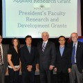 PFRDG Winners with George L. Hanbury, II, Ph.D., NSU President; Don Rosenblum, Ph.D., Dean of the Farquhar College of Arts and Sciences; Emily Smith; Joe Lopez, Ph.D.; Song Gao, Ph.D.; and Dick Dodge, Ph.D., Dean of the Oceanographic Center.