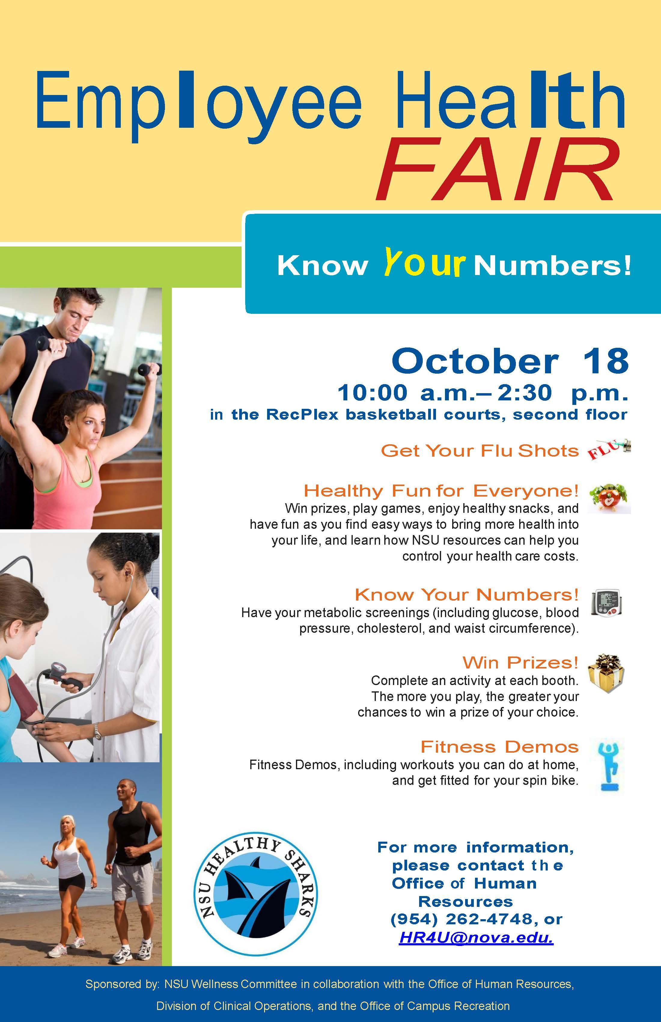 Get your Flu Shot at the NSU Employee Health & Wellness Fair, Oct