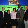 Broward County Public Schools wins QOL Outstanding Community Partner of the Year Award. L to R: Gary Margules, Sc.D.: Kimberly Durham, Psy.D., Chair, Quality of Life Council; Laurie Levinson, Chair, Broward County Public Schools; Robert Runcie, Superintendent Broward County Public Schools; NSU President George Hanbury, Ph.D.