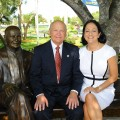 H. Wayne Huizenga and NSU Executive Vice President and COO Jackie Travisano