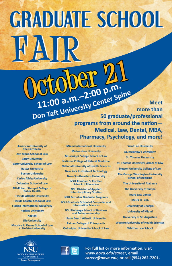 nsu graduate school fair  oct  21