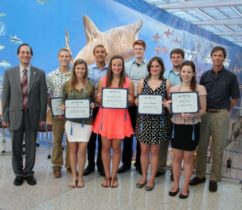 New Members of Honor Society for Marine Science