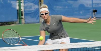 Nova Southeastern tennis senior Kamryn Blackwood (Farmington, N.M.)
