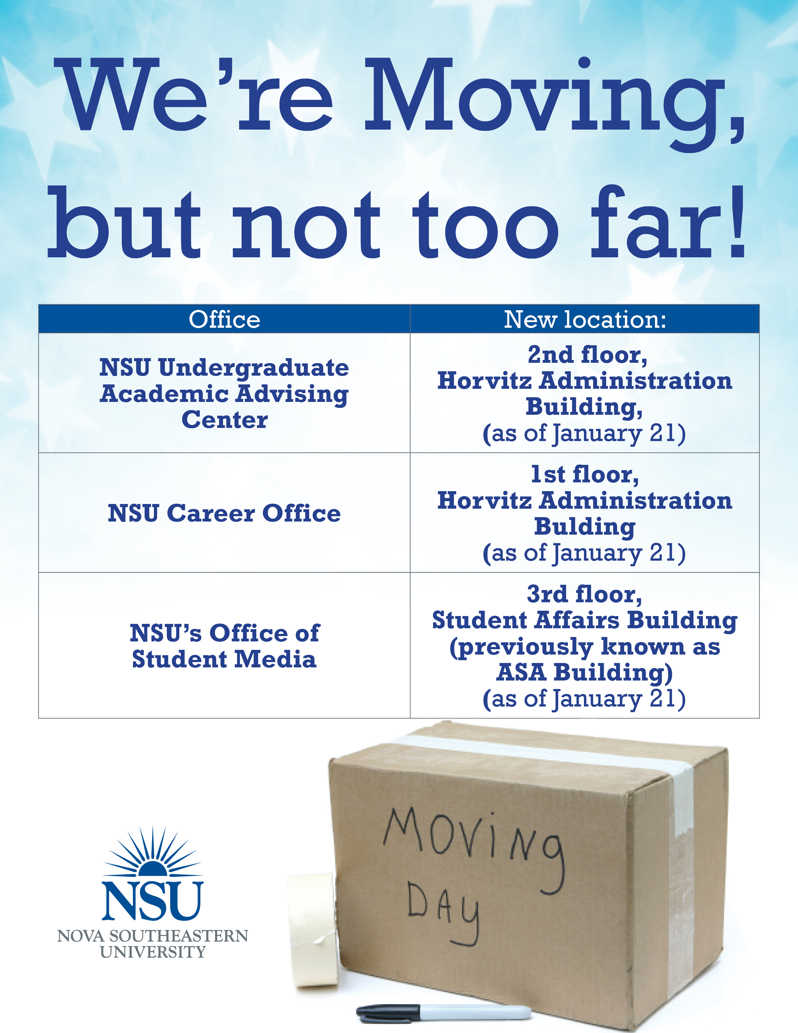 we ve moved career office undergraduate academic advising and