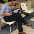 Nick and Sadie Oriken read a book to learn about the brain and nervous system.