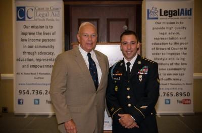 Major General William Matz and Marlin Muller