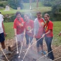 No summer camp experience is complete without roasting marshmallows!
