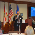 NSU's Chief Information Security Officer, John Christly presenting during the Healthcare Cyber Security Summit