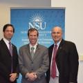 Dr. Yair Levy, GSCIS Professor, Ben Scribner, and GSCIS Dean Eric S. Ackerman