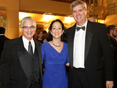 Dr. David S. Loshin, O.D., Ph.D., FAAO, diplomate, dean, NSU's College of Optometry, Jacqueline A. Travisano, M.B.A., CPA, NSU executive vice president and chief operating officer, and Dr. Michael Bacigalupi, O.D., M.S., FAAO, assistant dean for student affairs, NSU's College of Optometry