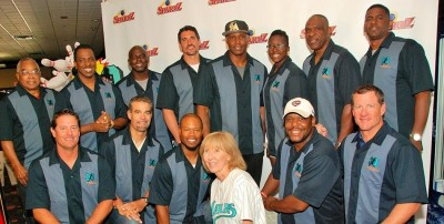 Front row – Brown, Lowell, Shannon Stewart (MLB), Olson, Sean Hill (NFL), Conine Back row – Tony Taylor (MLB), Juan Guzman (MLB), Rondell White (MLB), Carl Pavano (MLB), Floyd, Wilkins, Dawson, James Pruitt (NFL) Not pictured -- Sheffield and Charles Johnson (MLB)