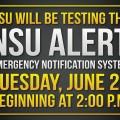NSU will be Testing the NSU ALERT Emergency Notification System, June 27