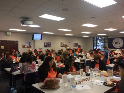 Over 80 women in management at Home Depot take part in a leadership seminar at NSU Orlando.