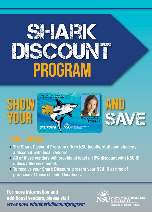 check out the newest shark discount program vendors nsu newsroom