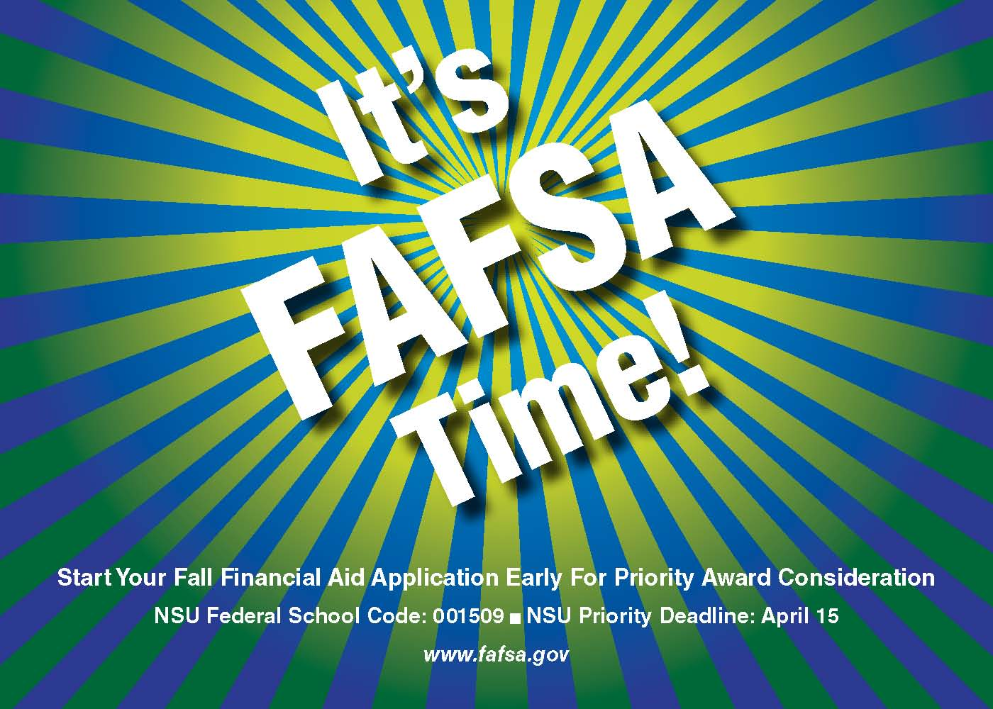 FAFSA for 2016-2017 Financial Aid Now Available | NSU Newsroom
