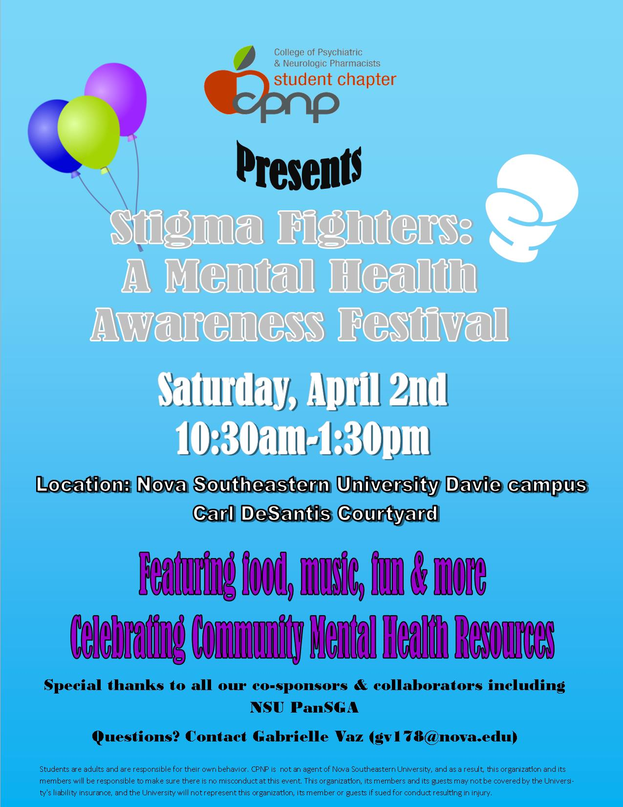 Nsu To Host Stigma Fighters Mental Health Awareness Festival Join