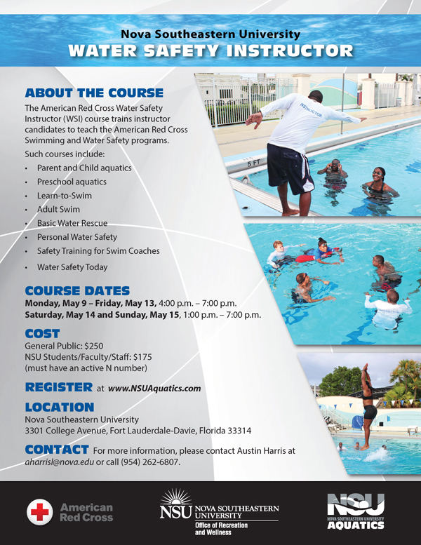 Register For The Water Safety Instructor Course Nsu Newsroom