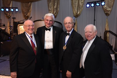 Dr. Barry Silverman, NSU President Dr. George Hanbury, Dr. Anthony N. Ottaviani, NSU Health Professions Division Chancellor Dr. Fred Lippman
