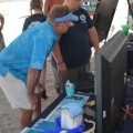 Dr. Guy Harvey Checks out GHRI Display