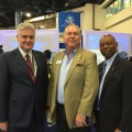 Johannes Vieweg, M.D., dean, NSU College of Allopathic Medicine; Bob Swindell, president & CEO, Greater Fort Lauderdale Alliance; and J. Preston Jones, D.B.A., dean, H. Wayne Huizenga College of Business and Entrepreneurship.