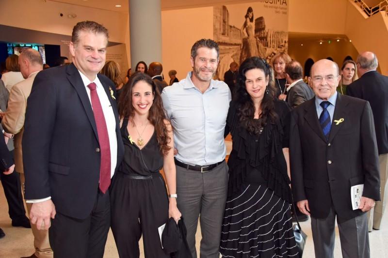 H. Thomas Temple, M.D; Janina Brandt, Peter Brandt, Giselle Brodsky and Jack Brodsky