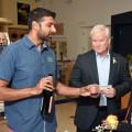 Kaushal Karia of Primo Liquors & Fine Wines providing complimentary wine tastings