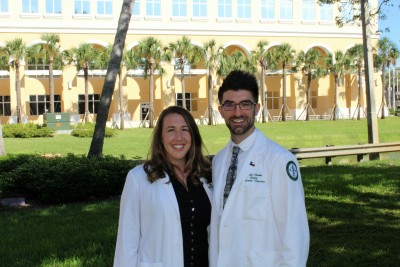 NSU College of Optometry students Justin Chelette and Kaily Tschantz