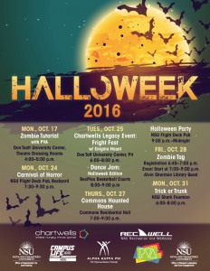 Halloweek 2016, October 17-31