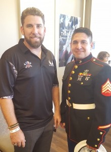 L to R: Fred Roger, M.B.A., Executive Director, Veterans Trust; Sergeant Carlos Garcia, Psy.D., NSU 2015