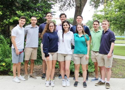 Pictured Back Row Left to Right: Matthew Herskowitz, Samuel Bennett, Michael Waldman, Spencer Chancey, Caleb Liberman, Billy Herskowitz, Hunter Fingado Pictured Front Row Left to Right: Sydney Juda, Lindsay Glick, Sarah Branse