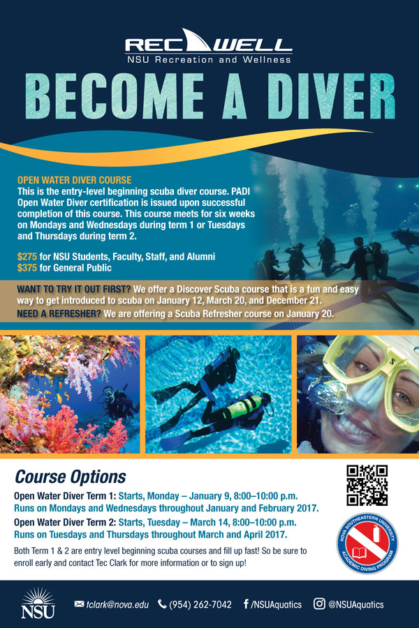 Become A Diver Open Water Diver Course Nsu Newsroom
