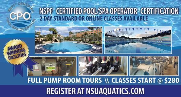 Nsu Aquatics Offers Nspf Certified Pool Spa Operator