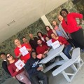 Office of Human Resources wears red
