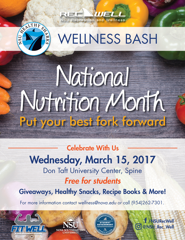 600px RecWell National Nutrition Month 2017