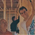 Kevin Dibert and his father in 1993 rebuilding homes damaged by Hurricane Andrew