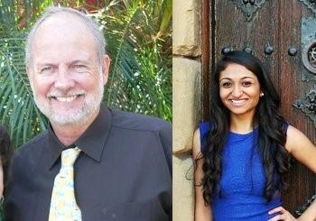 Scott Poland, Ed.D. and  Vidhi Thakkar, NSU's College of Psychology doctoral student.