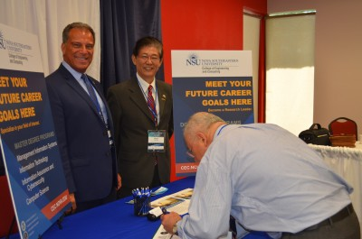 From left to right: Anthony J. DeNapoli, Ed.D., NSU's Associate Dean of International Affairs and Yong X. Tao, Ph.D. and P.E., dean of NSU's College of Engineering and Computing department.