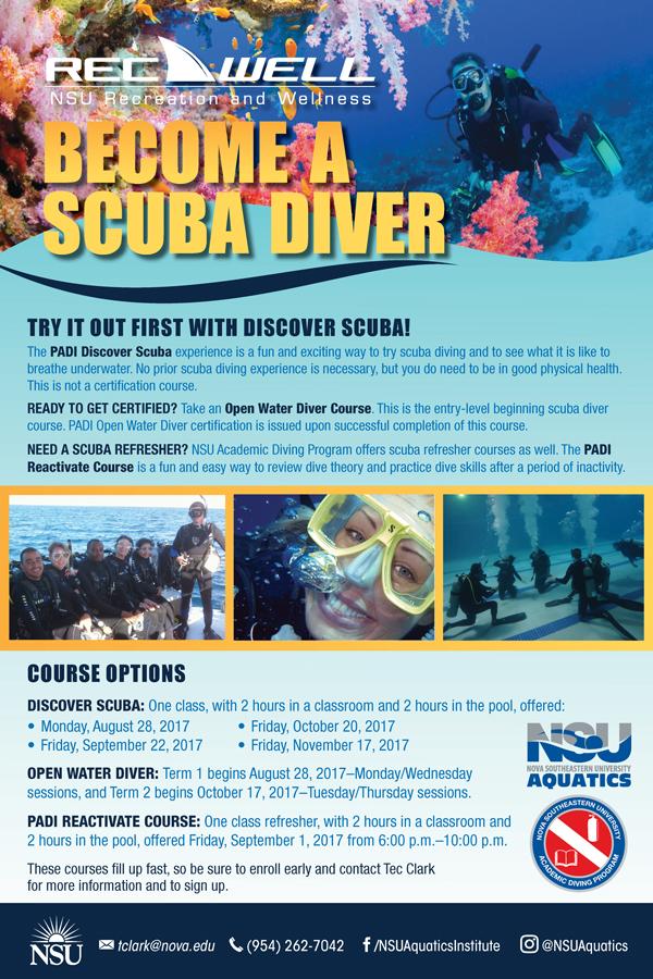 Become A Scuba Diver Nsu Newsroom