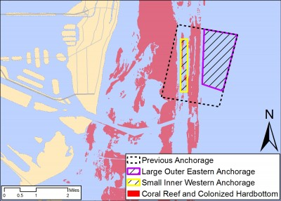 Change in Port Miami Anchorage Map