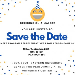 Save the date Deciding Majors Sept 18. 2017